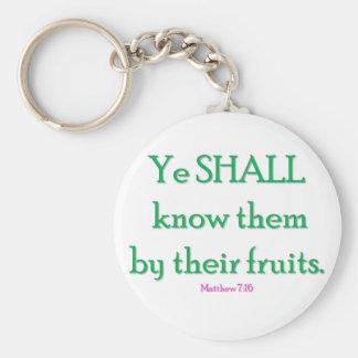 YE SHALL KNOW THEM KEYCHAIN