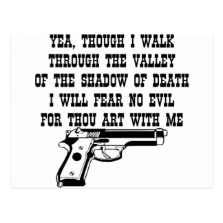 Yea Though I Walk Through (My Gun Is With Me) Postcard