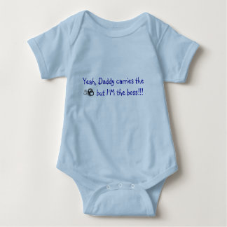 Yeah, Daddy carries the  badge and cuffs Baby Bodysuit