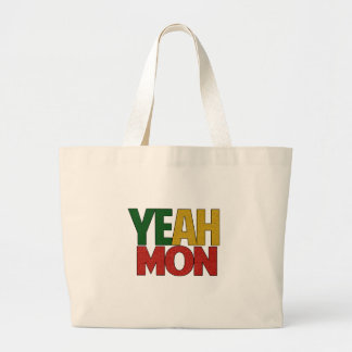 Yeah Mon Jamaican Vacation Large Tote Bag