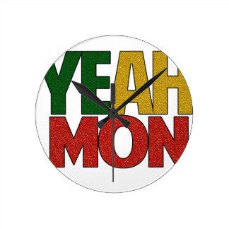Yeah Mon Jamaican Vacation Wall Clocks