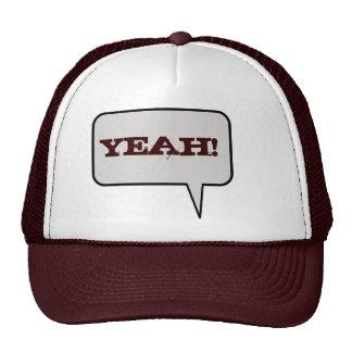 Yeah Speech Bubble Hat
