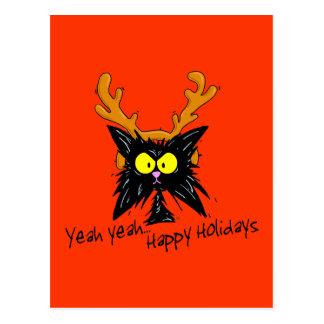 """Yeah Yeah...Happy Holidays"" Postcard"