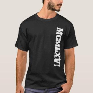 Year 1966 in Roman Numerals Grunge Style T-Shirt