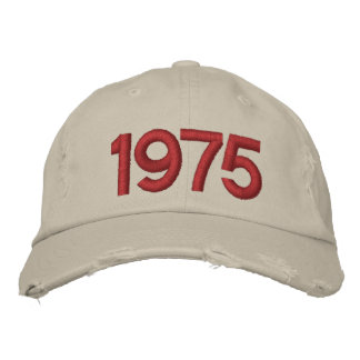 Year 1975 embroidered hat