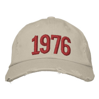 Year 1976 embroidered hat