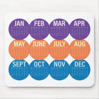 Year 2018 Calendar Mouse Pad