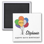 Year Dated, Age, Name Personalized Birthday Square Magnet