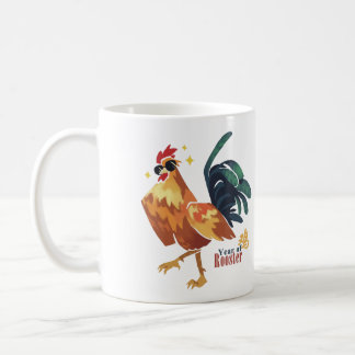 Year of Rooster, Chinese Character, Coffee Mug
