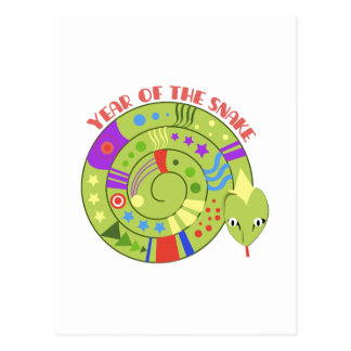Year Of Snake Postcard