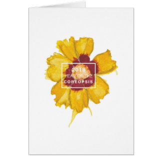 Year of the Coreopsis notecard