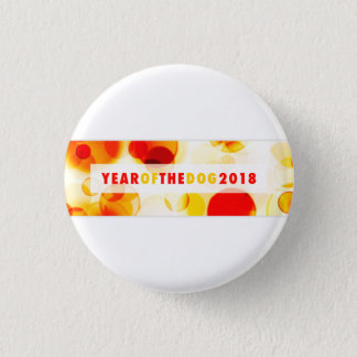 Year of the Dog 2018 Bokeh Banner 1 Inch Round Button