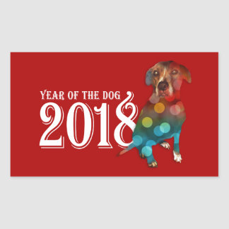 Year of the Dog 2018 Double Exposure Sticker