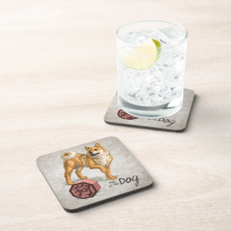Year of the Dog Chinese Zodiac Art Coaster