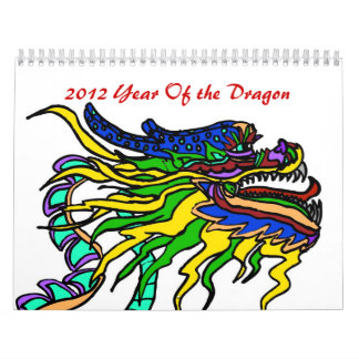 Year of the dragon  2012 calendars