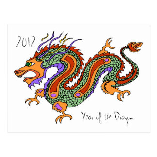 Year of the Dragon 2012 Postcard