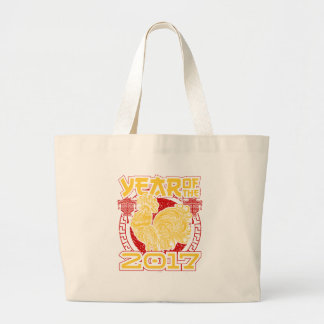 Year of the Fire Rooster 2017 Chinese Zodiac Large Tote Bag