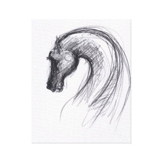 Year of The Horse Original Drawing 1 Canvas Print