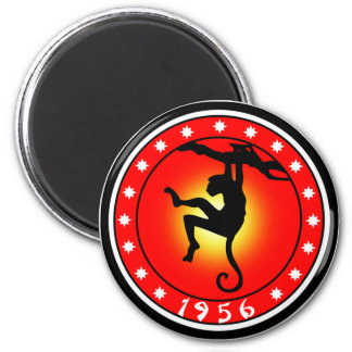 Year of the Monkey 1956 2 Inch Round Magnet