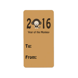 Year of the Monkey 2016 Label