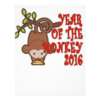 Year of the Monkey - Chinese Lunar New Year 2016 T Letterhead Design