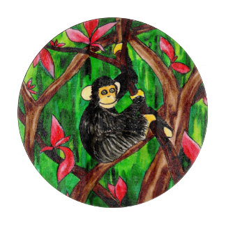 Year of the Monkey round cutting board