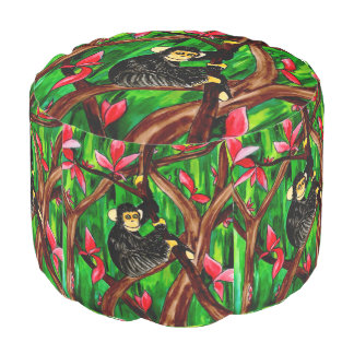 Year of the Monkey round pouf