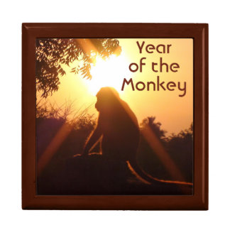 Year of the Monkey Sun Silhouette Gift Box