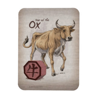 Year of the Ox Chinese Zodiac Art Magnet