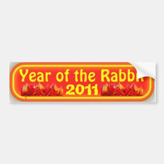 year of the rabbit bumper sticker car bumper sticker