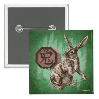 Year of the Rabbit Chinese Zodiac Astrology Button