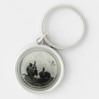 year of the Rabbit Coin Keychain