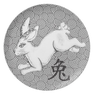 Year of the Rabbit Dinner Plate