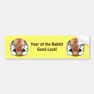 Year of the Rabbit-Good Luck Bumper Sticker