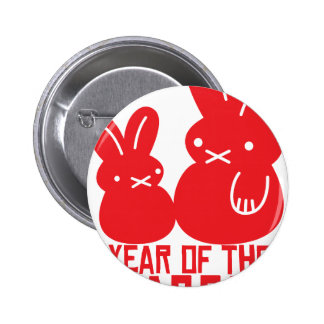 Year of the rabbit pinback buttons