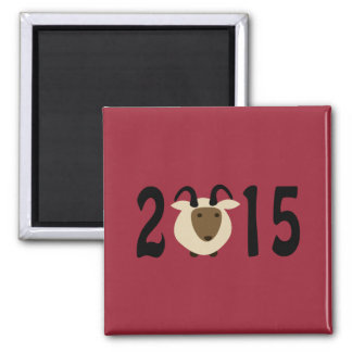 Year of the Ram 2015 Square Magnet