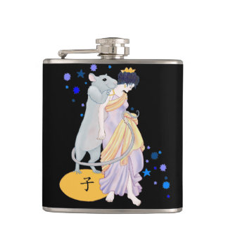 Year of the Rat Hip Flask