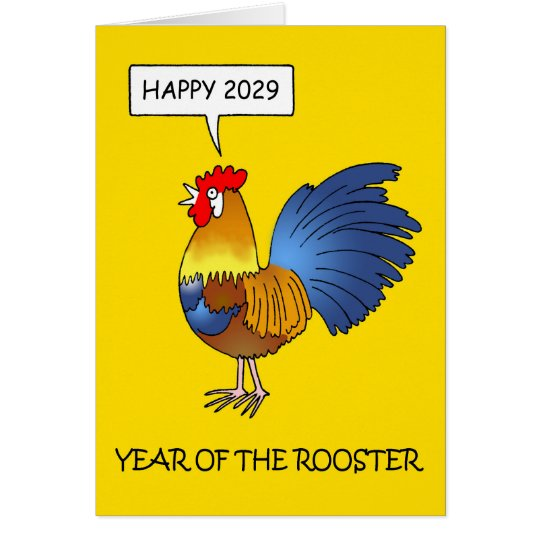Year of the Rooster 2029 Card