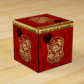 Year of The Rooster Chinese New Year 2017 Favor B2 Favor Box