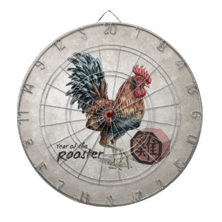 Year of the Rooster Chinese Zodiac Art Dartboard