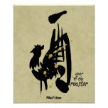 Year of the Rooster - Chinese Zodiac Poster
