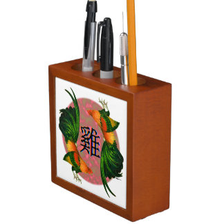 Year of the Rooster Circle Desk Organizer