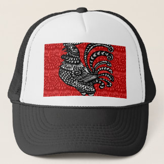 Year of the rooster trucker hat