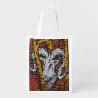 Year Of the Sheep Graffiti Grocery Bag