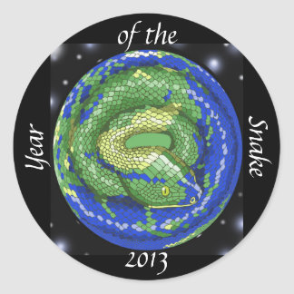 Year of the Snake Classic Round Sticker