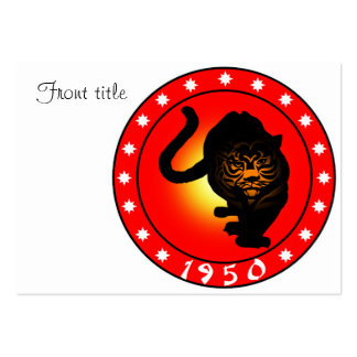 Year of the Tiger 1950 Business Card