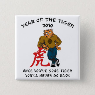 Year of The Tiger 2010 Men's 2 Inch Square Button