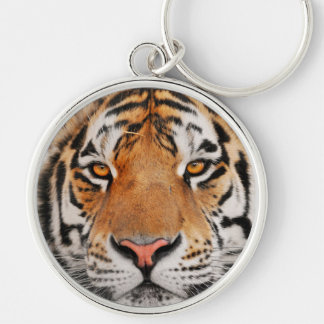 Year Of The Tiger Silver-Colored Round Keychain
