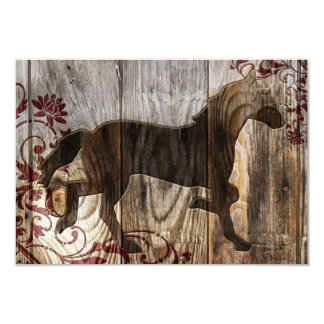 """year of the wooden horse 3.5"""" x 5"""" invitation card"""