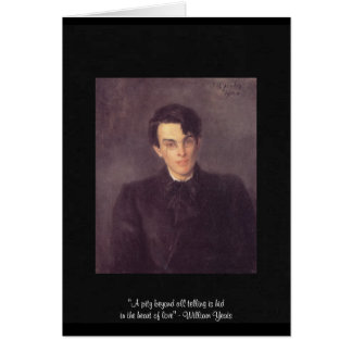 "Yeats ""Heart Of Love"" Quote On Greeting Card"